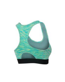 Sporty U Neck Solid Color Yoga Tops