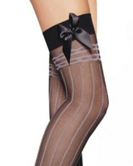 Stockings Bows Striped Nylon Sexy Lingerie