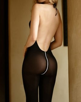 Stretch Zipper Nylon Hosiery