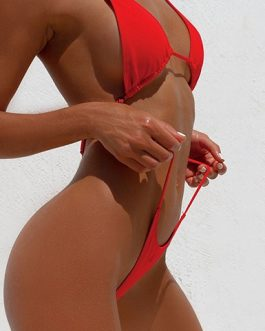 Triangular Bra and Bottoms String Two Piece Bikini