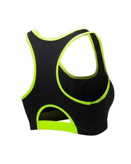 U Neck Wire Free Breathable Solid Color Yoga Tops