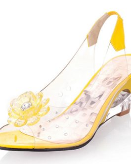 Acrylic Flower Accent Slingbacks