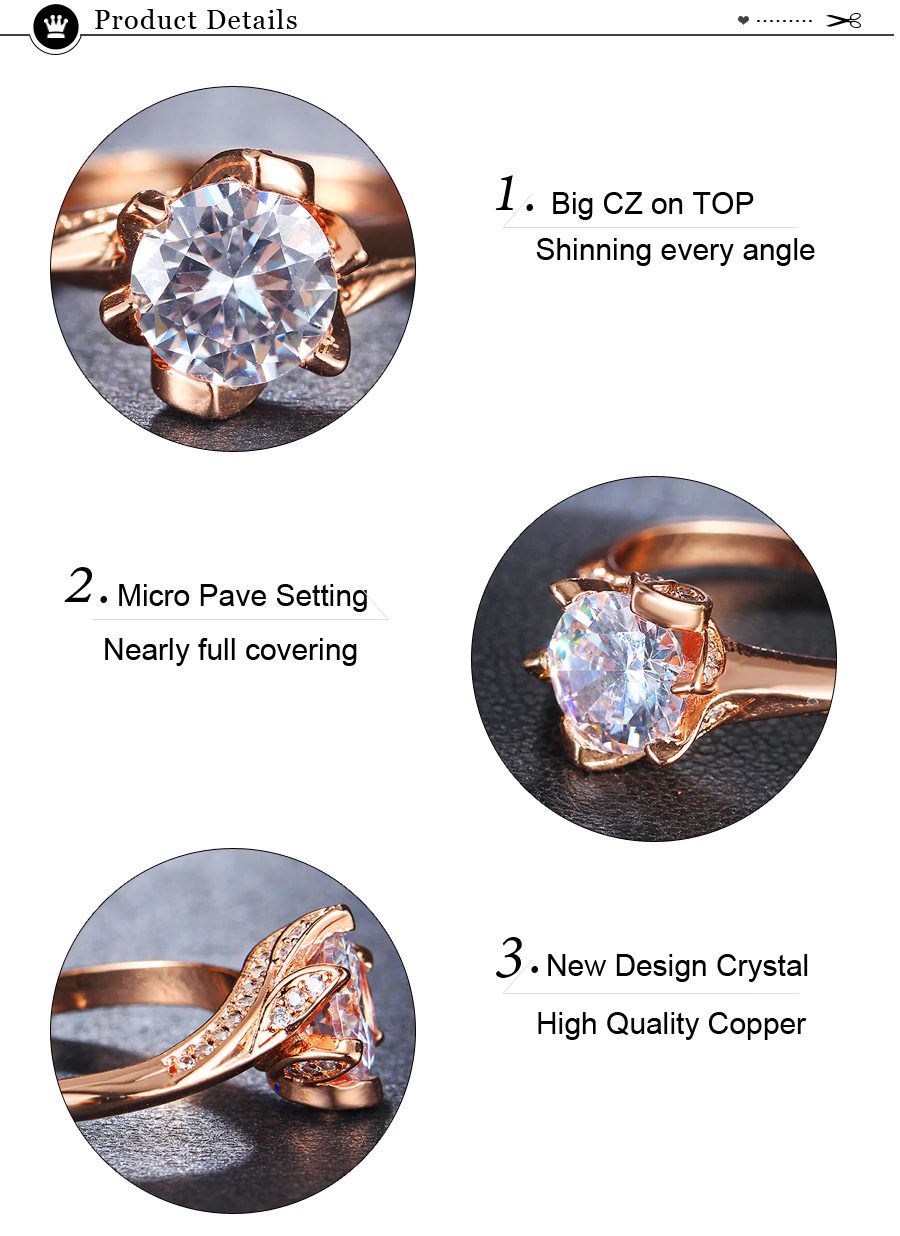 Big Cubic Zirconia Wedding Engagement Rings4