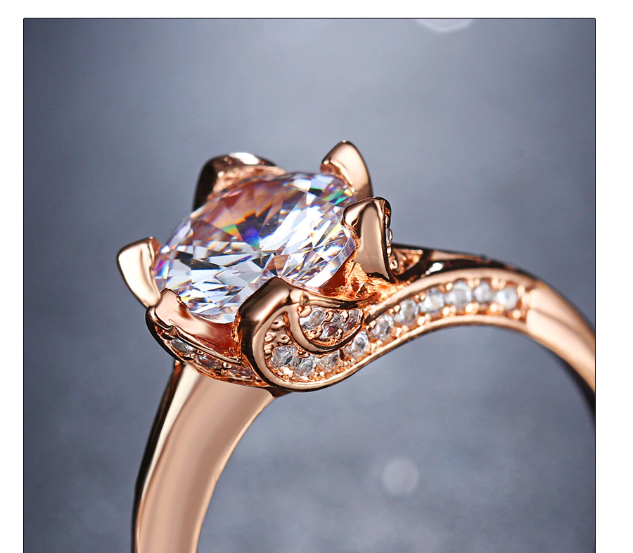 Big Cubic Zirconia Wedding Engagement Rings7