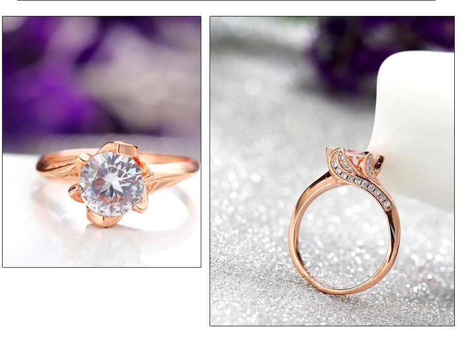 Big Cubic Zirconia Wedding Engagement Rings8