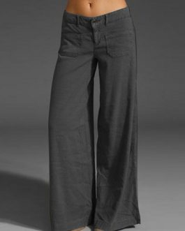 Casual Cotton Long Solid Plain Harem Pants