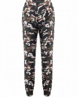 Casual Cotton Skinny Printed Pants