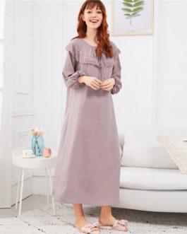 Casual Pullover Lace Nightwear Sleepwear