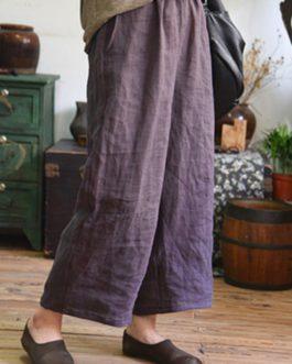 Elastic Waist Casual Loose Wide Leg Pants