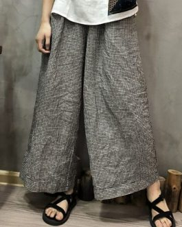 Elastic Waist Pockets Loose Wide Leg Pant