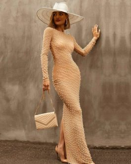 Elegant Long Sleeve Bodycon Dress