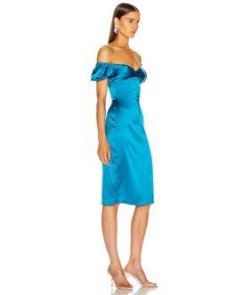 Elegant Slash Neck Off Bodycon Party Dress