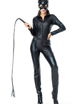 Halloween Costume Catwoman Leather Roleplay Cosplay