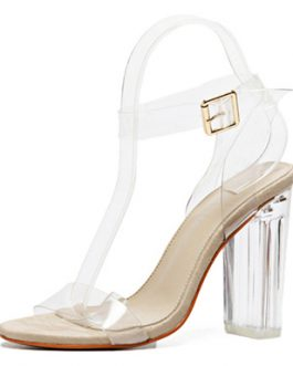 High Heel Sandal – Acrylic Ankle and Toe Strap