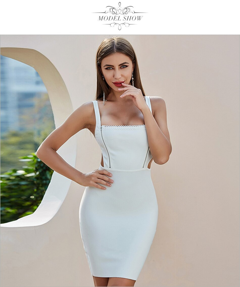 Hollow Out Sexy Bodycon Celebrity Runway Club Party Dresses 3