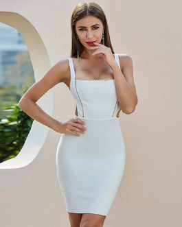 Hollow Out Sexy Bodycon Celebrity Runway Club Party Dresses