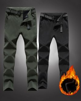 Outdoor Thick Fleece Camping Climbing Hiking Soft Trousers