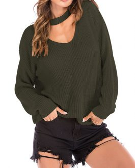 Pullovers V-Neck Long Sleeves Acrylic Sweaters