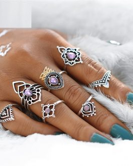 Retro Boho Beach Anillos Punk Jewelry Party 7PCS/set