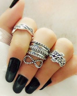 Rings Set In 4 Pcs Valentine Gift
