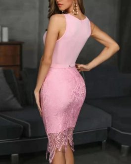 Sexy Hollow Out Long Bodycon Bandage Dress