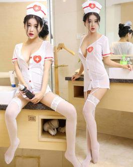Sexy Nurse Costume Halloween 3 Piece set