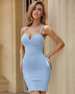 Sexy Runway Deep V Neck Celebrity Club Party Vestidos Bandage Dress