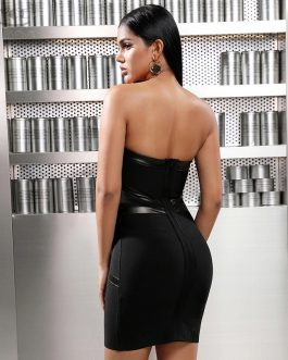 Sexy Sleeveless Slim Elastic Bodycon Dress