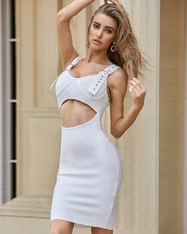 Sexy Sleeveless Tank Hollow Out Celebrity Party Bodycon Dress