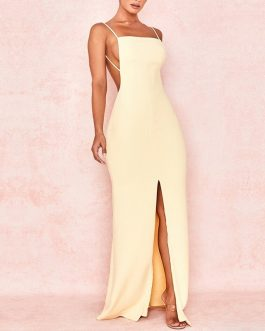 Sexy Spaghetti Strap Maxi Party Dress