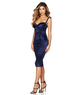 Sexy Spaghetti Strap Bodycon Draped Party Dress