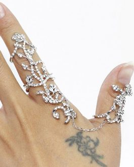 Statement Metal Floral Rings