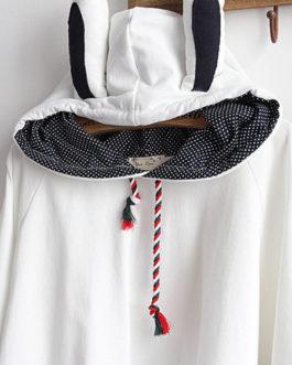 Cape Cloak Coat Bunny Ear Hooded Lolita Outerwear
