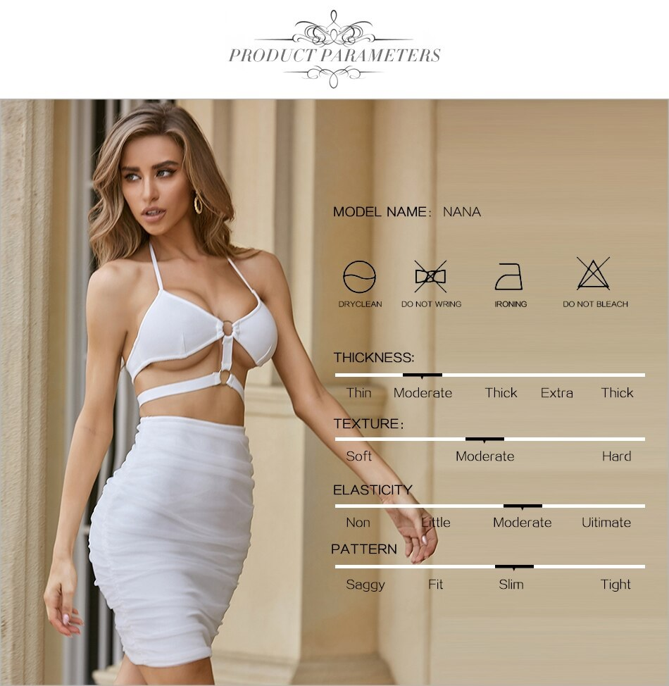 Club Sexy Hollow Out Spaghetti Strap Celebrity Party Bodycon Dress 5