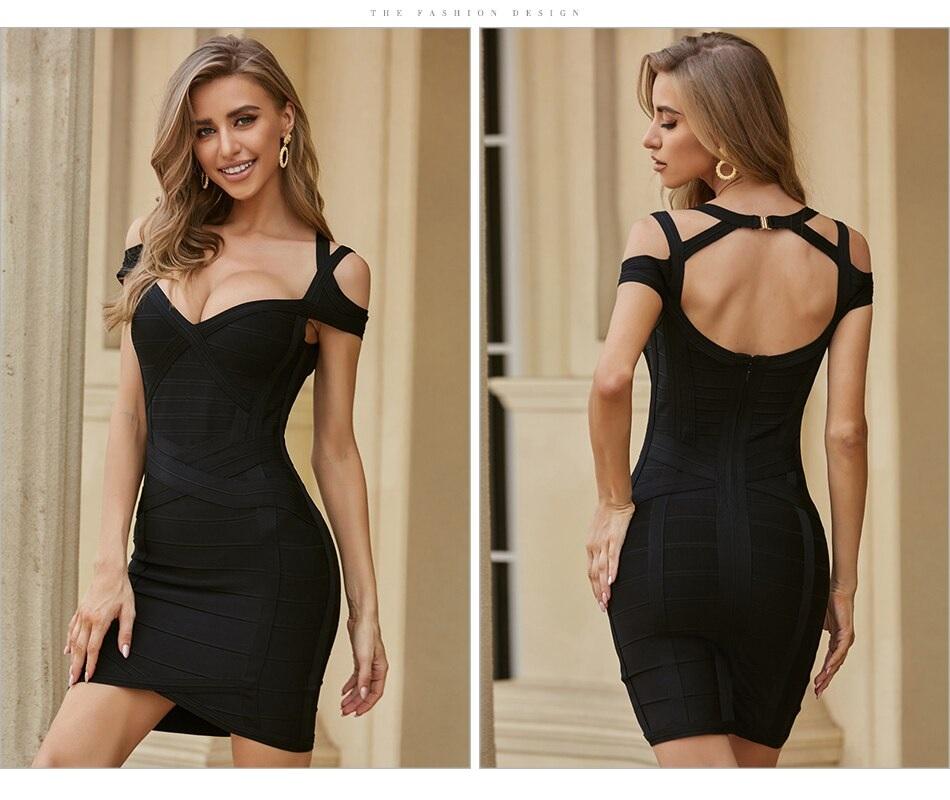 Club Sexy Runway Short Sleeve Halter Celebrity Party Bodycon Dress 6