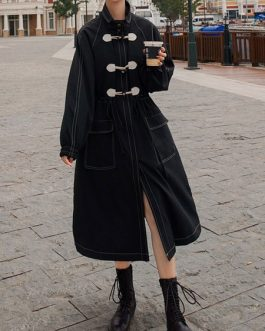 Duffle Casual Polyester Long Sleeve Overcoat Lolita Outwear