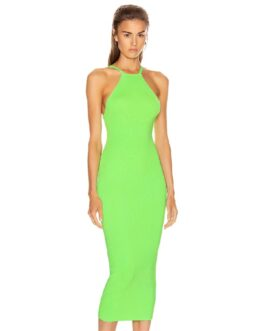 Fashion Sexy Spaghetti Strap Backless Club Bandage Dress