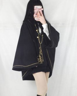 Gothic Lolita Cape Coat Military Style Outerwear
