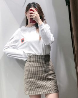 High Waist Stylish Back Pleated Skirts