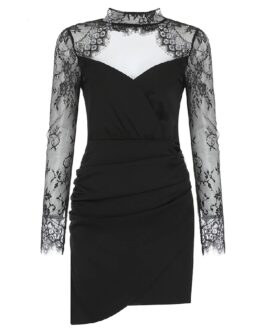 Lace Sexy Hollow Out Evening Runway Party Dresses