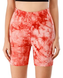 Leggings Cozy Polyester Tie Dye Drawstring Elastic Waist Casual Short Pants