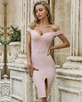 Off Shoulder Sexy Celebrity Party Bodycon Club Dress