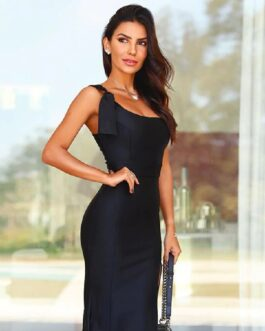 One Shoulder Sexy Sleeveless Bodycon Runway Party Dress