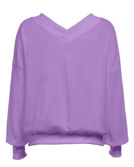 Pullover V-Neck Long Sleeve Casual Sweaters