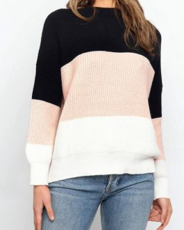 Pullovers Jewel Neck Long Sleeves Short Sweaters