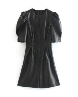Sexy Club Puff Short Sleeve Bodycon Party Mini Dress