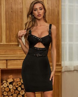 Sexy Sleeveless Spaghetti Strap Celebrity Runway Party Club Dress