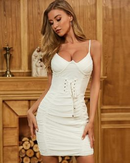 Sexy Spaghetti Strap Celebrity Runway Party Bodycon Club Dress