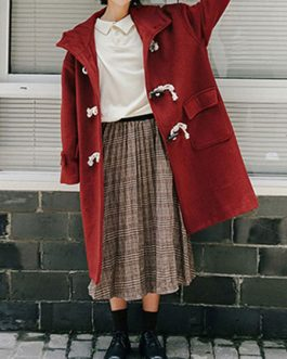 Sweet Casual Polyester Duffle Overcoat Lolita Outwears