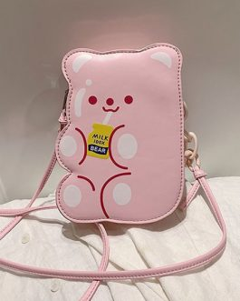 Sweet Lolita Bag Bear PU Leather Cross Body Bag